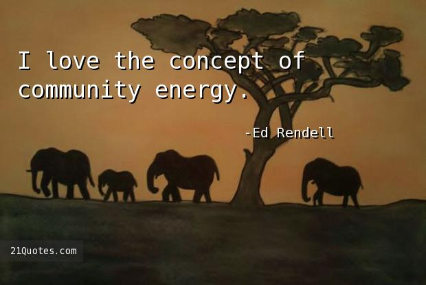 I love the concept of community energy.