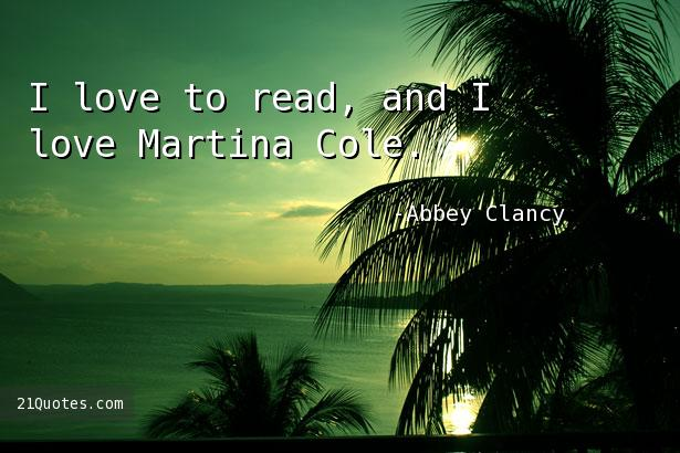I love to read, and I love Martina Cole.