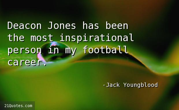 Deacon Jones has been the most inspirational person in my football career.