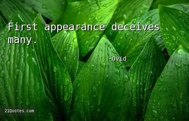 First appearance deceives many.