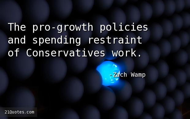 The pro-growth policies and spending restraint of Conservatives work.