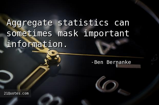Aggregate statistics can sometimes mask important information.