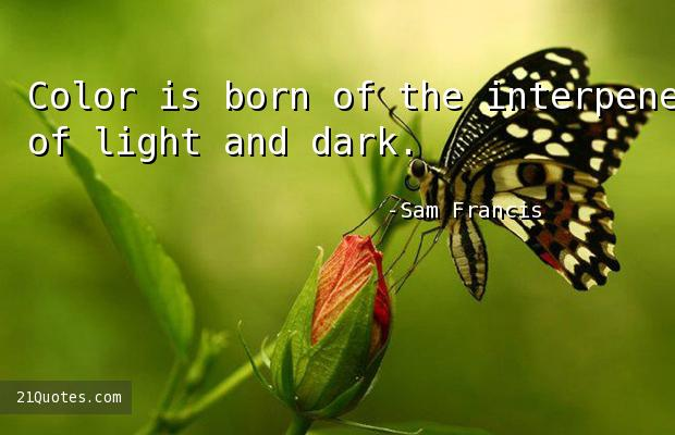 Color is born of the interpenetration of light and dark.