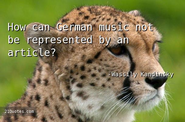 How can German music not be represented by an article?