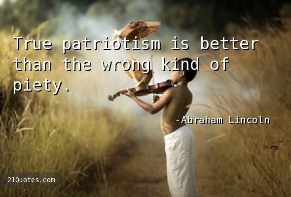 True patriotism is better than the wrong kind of piety.
