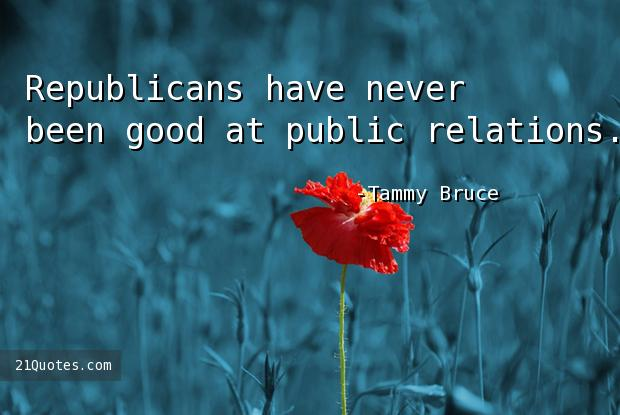 Republicans have never been good at public relations.